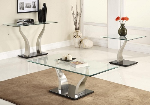 Glass Table Sets For Living Room 1