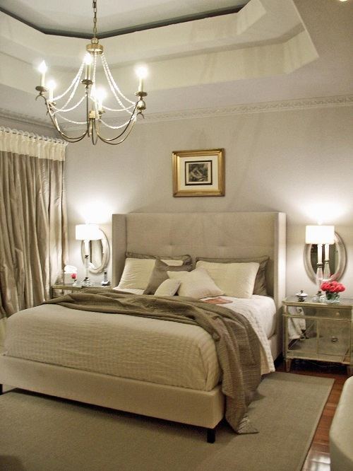 10 calm and elegant gray and beige bedroom decorations ideas for Grey and neutral bedroom