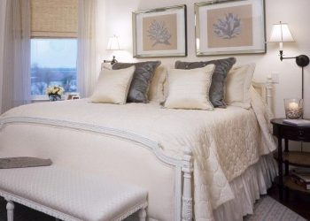Gray and Beige Bedroom