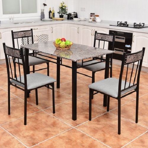 5 Piece Faux Marble Dining Set Price 14998