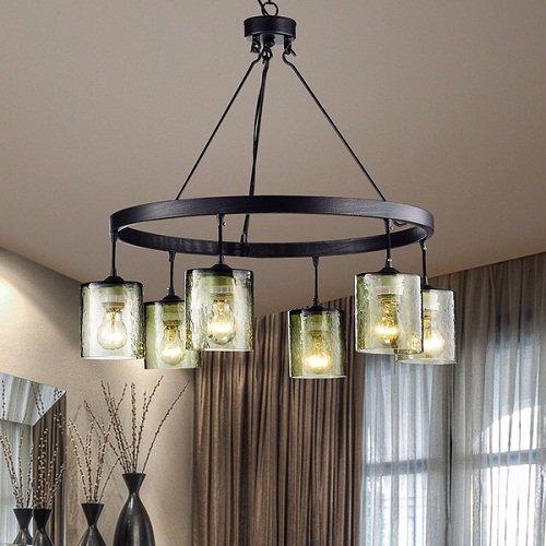 Lantern chandelier for dining