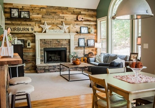 Log Home Living Rooms 11