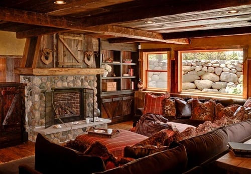 Log Home Living Rooms 3