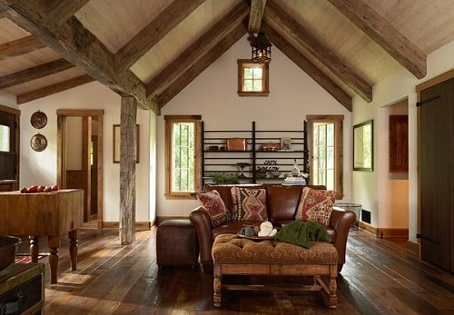 Log Home Living Rooms 6