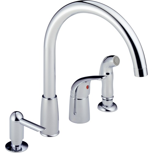 Modern Single Handle Kitchen Faucets 4 hole