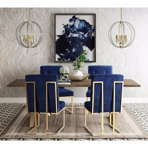 Adorable Affordable Navy Dining Room Chairs For Your Lovely Home