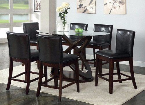 classy round dining room table for 6