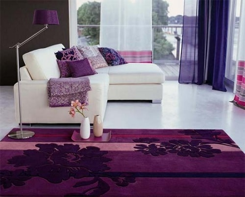 Purple Living Room Rugs 1