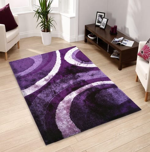 Purple Living Room Rugs 3