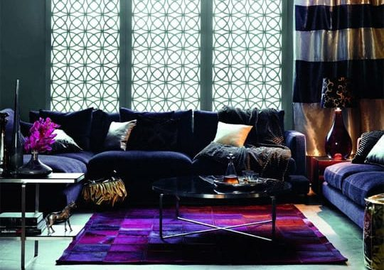 Purple Living Room Rugs Featured