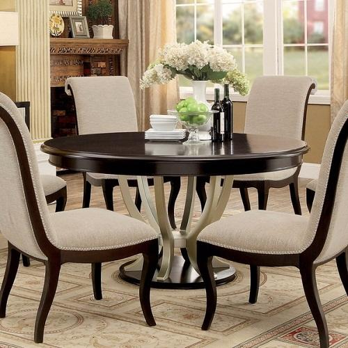 9 amazing round dining room table for 6 persons under 800. Black Bedroom Furniture Sets. Home Design Ideas