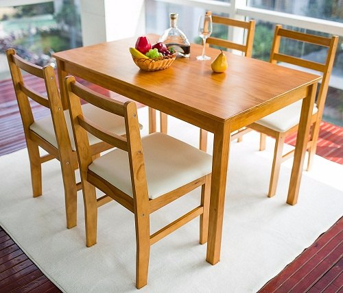 7 attractive small dining room sets for apartments for Small 4 person dining table