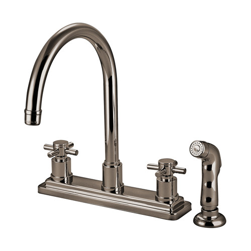 South Beach Cross Handle Kitchen Faucets 4 hole