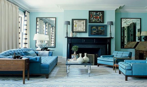 Teal Living Room Accessories Featured