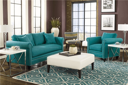 Teal Living Room Chair Featured