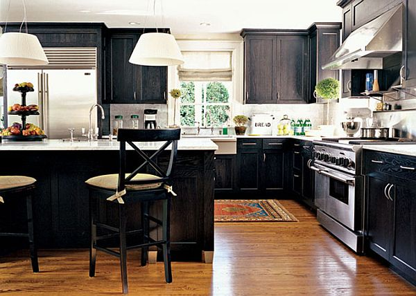 black kitchen chairs feature
