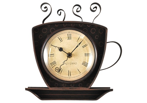 8 Sweet And Lovely Coffee Clocks Kitchen For Decoration