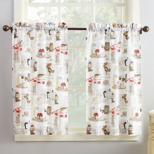 Coffee Themed Curtains Kitchen 1