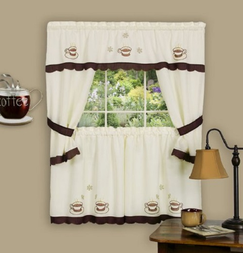 Coffee Themed Curtains Kitchen 4