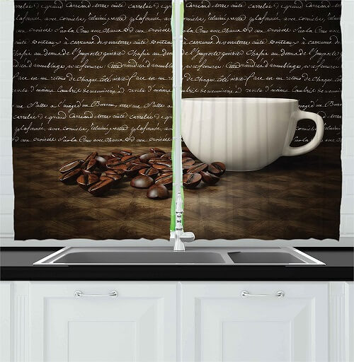 8 Adorable Coffee Themed Kitchen Curtains Under 40 00