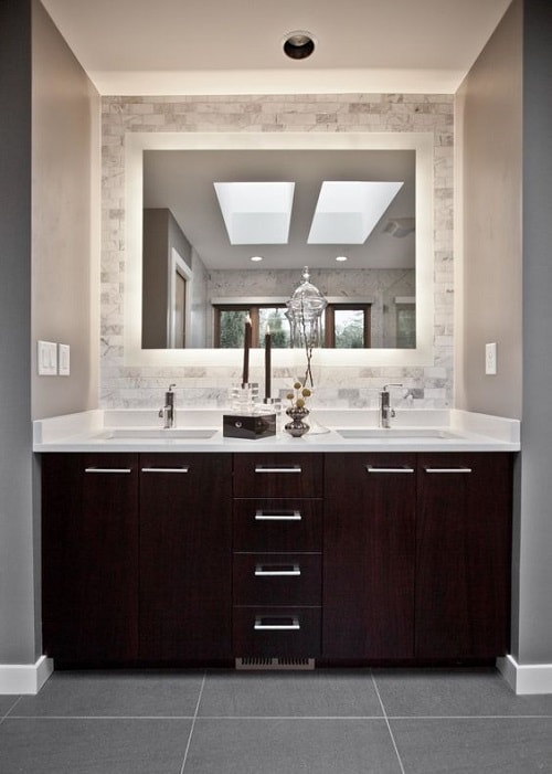 colored bathroom vanity