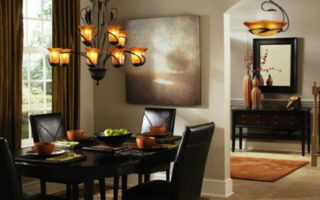 bronze dining room light