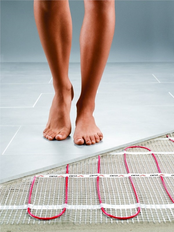 heated floors in bathroom