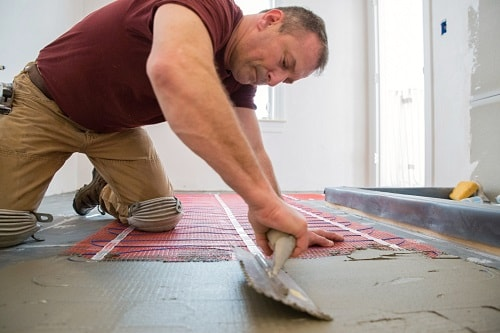 Attractive DIY: Installing The Heated Floors In Bathroom