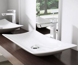 low profile bathroom vanity