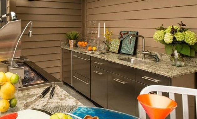 outside kitchen island feature