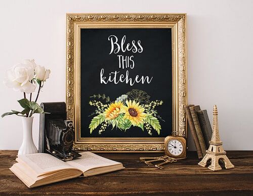 sunflower kitchen decor theme 0