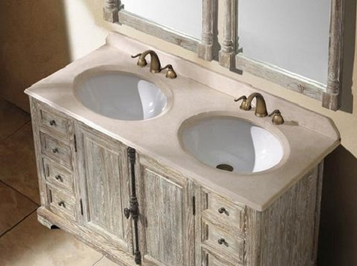 15 antique and ancient weathered wood bathroom vanity ideas