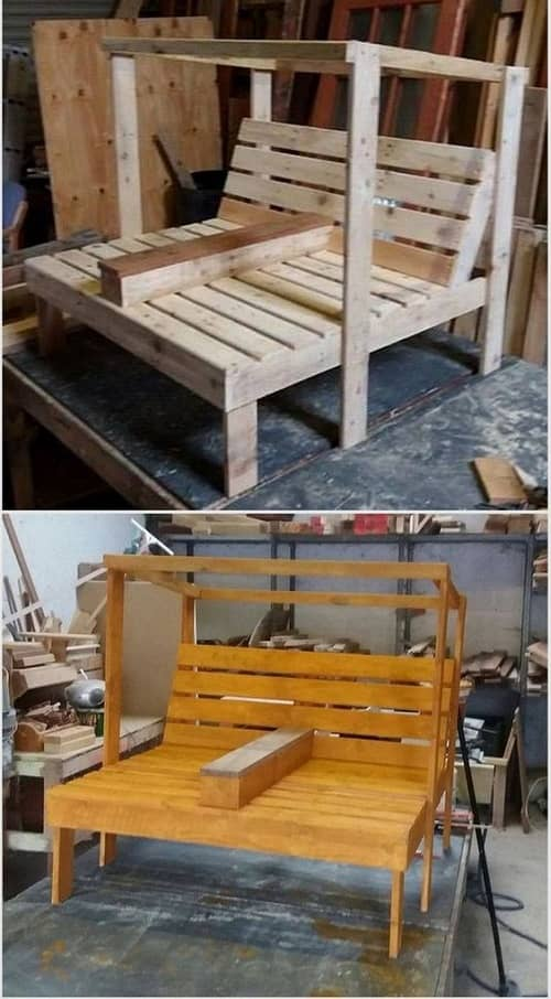 wood pallet lounger ideas 13