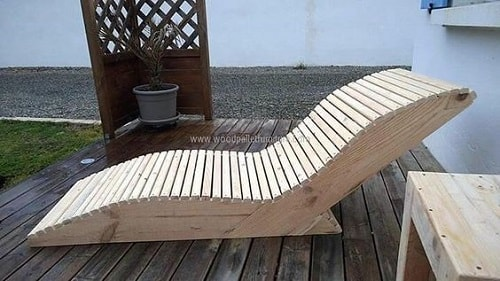wood pallet lounger ideas 17