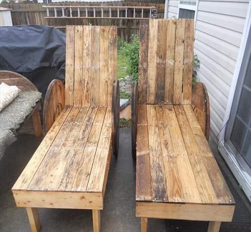 wood pallet lounger ideas 3