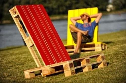 wood pallet lounger ideas 5
