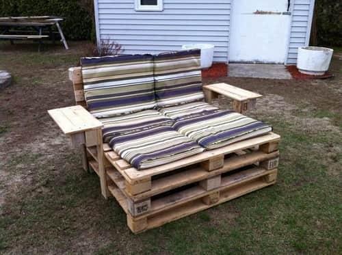 wood pallet lounger ideas 6