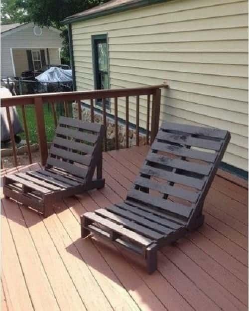 wood pallet lounger ideas 7