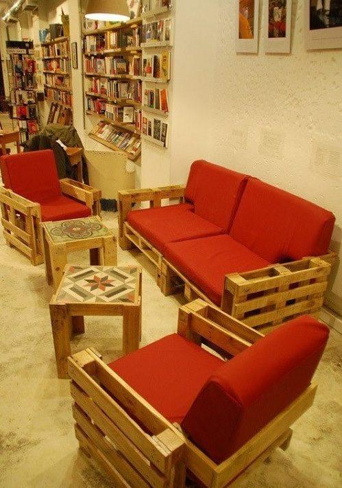 wood pallet seating set ideas 10