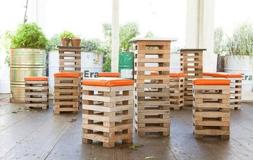 wood pallet seating set ideas 12