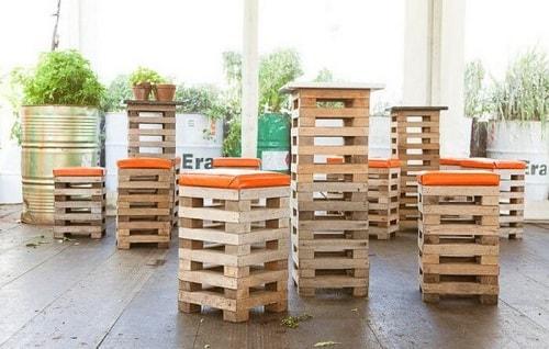 wood pallet seating set ideas 12