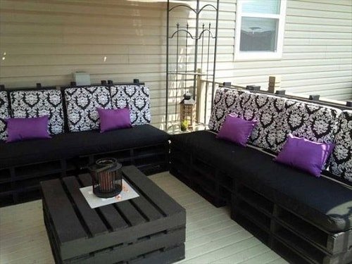 wood pallet seating set ideas 13