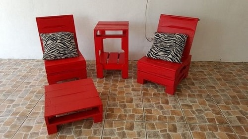 wood pallet seating set ideas 15