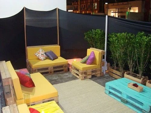 wood pallet seating set ideas 3