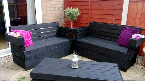 wood pallet seating set ideas 6