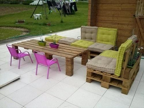 wood pallet seating set ideas 9