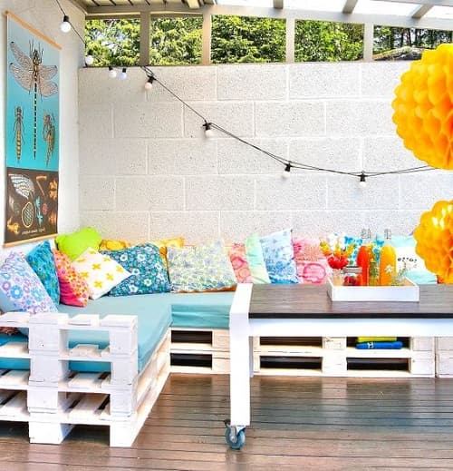 wood pallet seating set ideas top-min