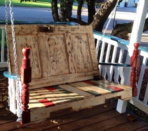 wood pallet swing ideas 12