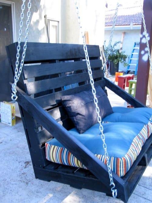 wood pallet swing ideas 13