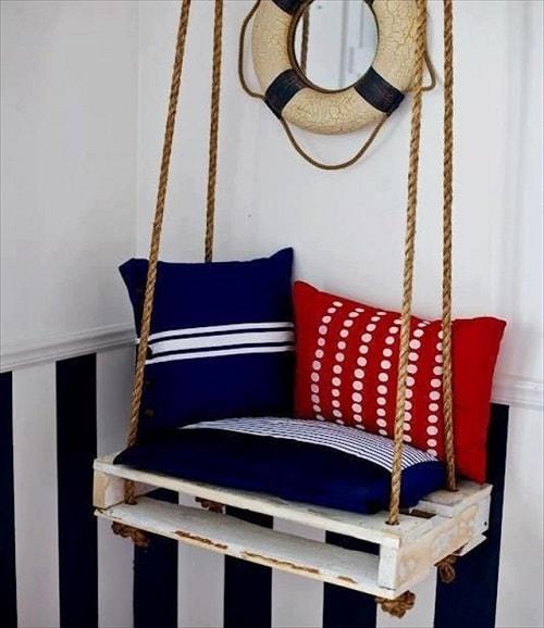wood pallet swing ideas 14